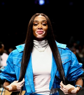 NBA Maçında Bir Model: Winnie Harlow