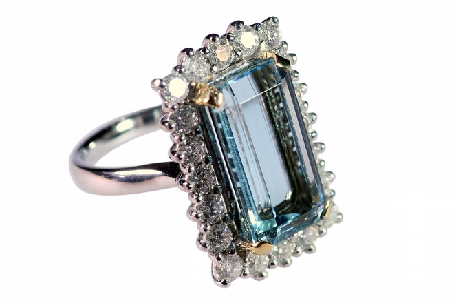 The Aqua Marine Dress Ring- Cheshire Diamonds