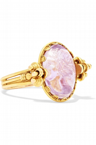 Gold 1870's 18-karat Gold Amethyst Ring- Fred Leighton